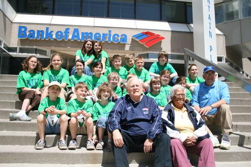 John Beishline, Buffalo Marathon Director and the Run4Leah kids