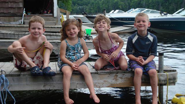 With cousins Nate, Julia & Shea